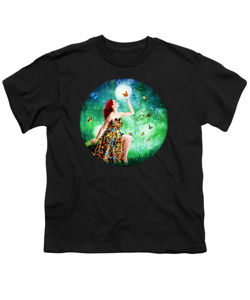 Madam Butterfly Youth T-Shirt by Linda Lees
