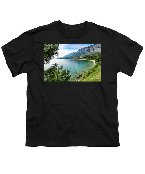 Makarska Riviera White Stone Beach, Dalmatian Coast, Croatia Youth T-Shirt