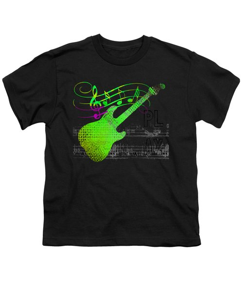 Youth T-Shirt featuring the digital art Making Music by Guitar Wacky