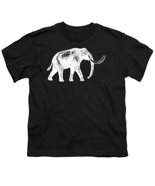 Mammoth White Ink Tee Youth T-Shirt by Edward Fielding