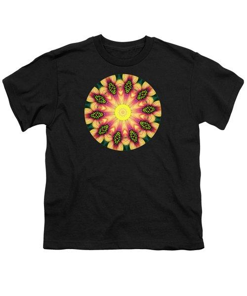 Mandala Yellow Burst Youth T-Shirt by Hao Aiken