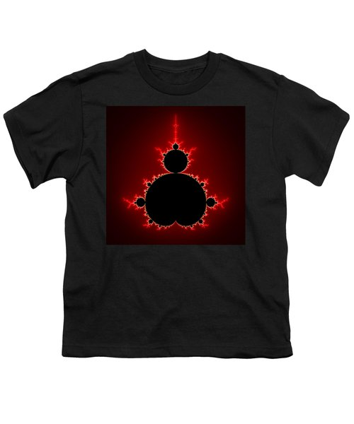 Mandelbrot Set Black And Red Square Format Youth T-Shirt