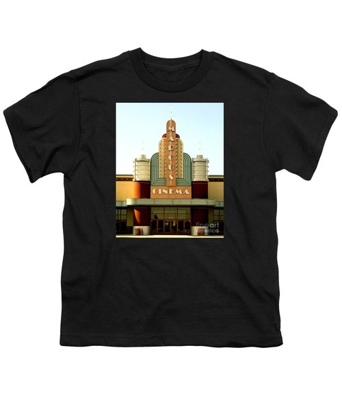 Youth T-Shirt featuring the photograph Marcus Renaissance Cinema, Racine Wisconsin  by Ricky L Jones