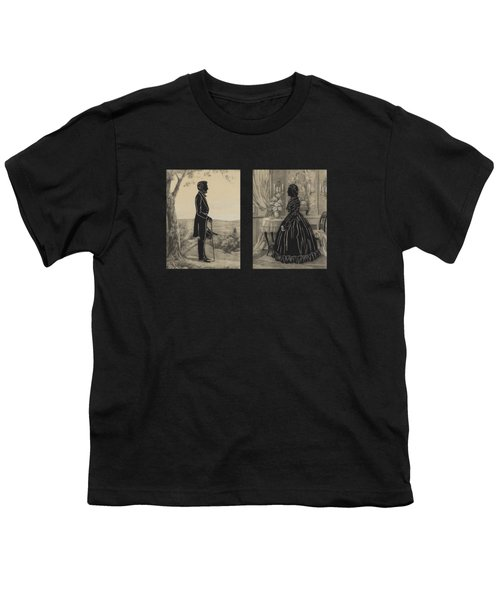 Mary Todd And Abraham Lincoln Silhouettes Youth T-Shirt