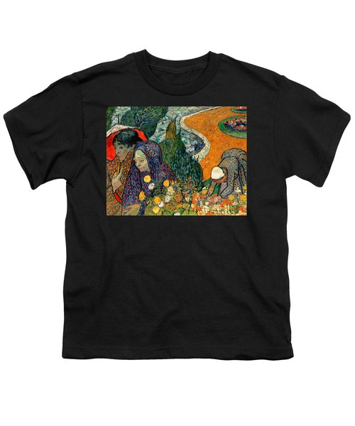 Youth T-Shirt featuring the painting Memory Of The Garden At Etten by Van Gogh