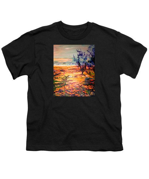 Youth T-Shirt featuring the painting Memory Pandanus by Winsome Gunning