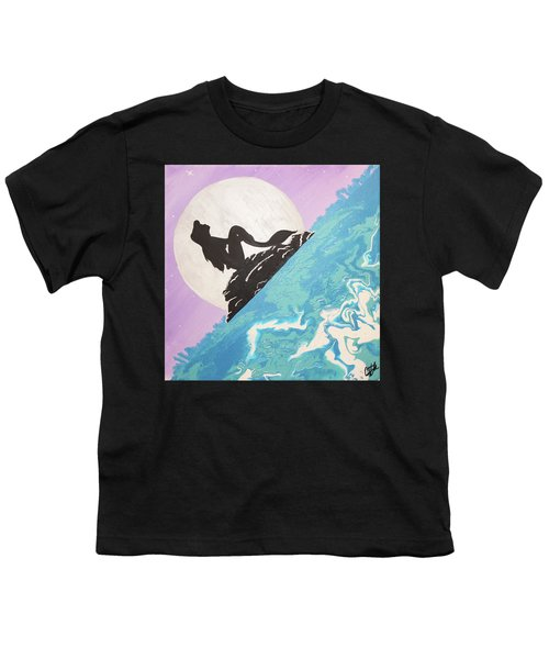 Mermaid Youth T-Shirt by Cyrionna The Cyerial Artist