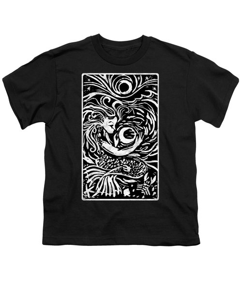 Mermaid Moon Youth T-Shirt by Katherine Nutt