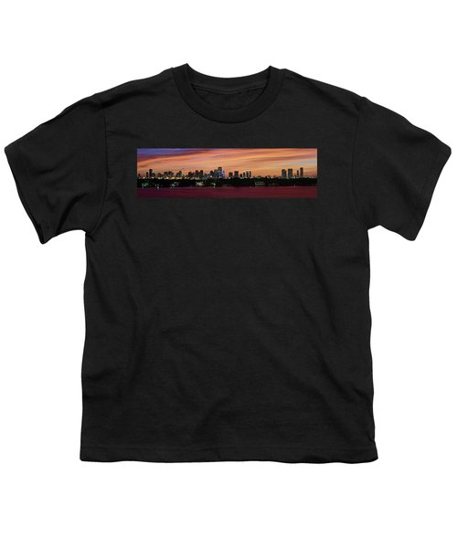 Miami Sunset Panorama Youth T-Shirt by Gary Dean Mercer Clark