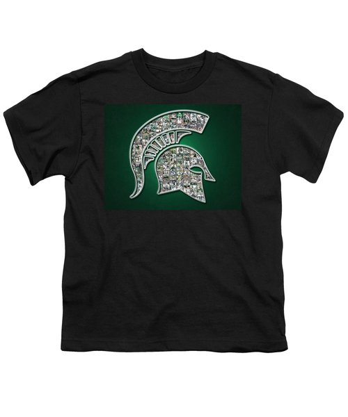Michigan State Spartans Football Youth T-Shirt by Fairchild Art Studio
