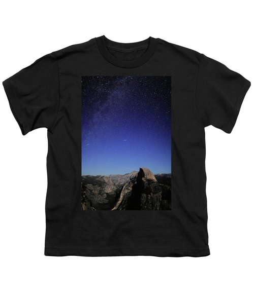 Milky Way Over Half Dome Youth T-Shirt