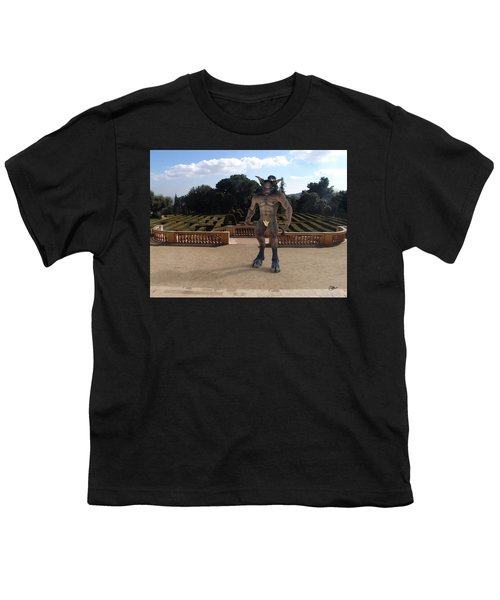 Minotaur In The Labyrinth Park Barcelona. Youth T-Shirt