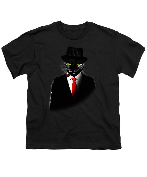 Mobster Cat Youth T-Shirt
