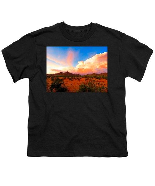 Monsoon Storm Sunset Youth T-Shirt