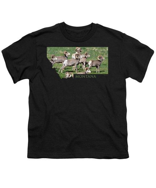 Montana -bighorn Rams Youth T-Shirt