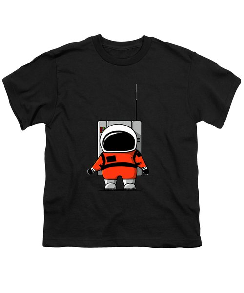 Moon Man Youth T-Shirt by Nicholas Ely
