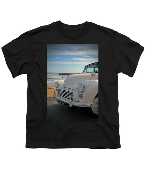 Morris Minor At The Beach Youth T-Shirt