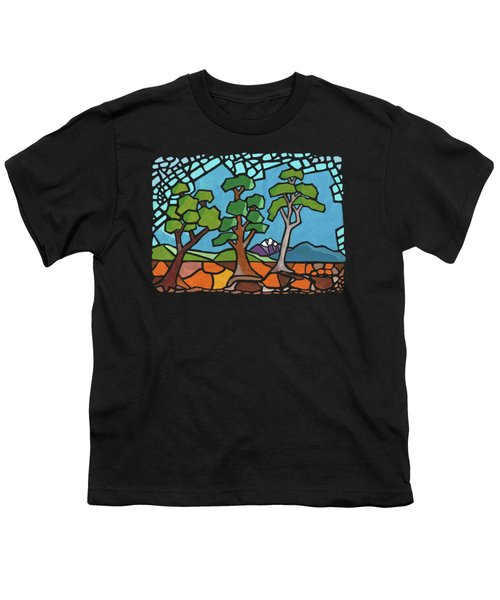 Mosaic Trees Youth T-Shirt by Anthony Mwangi