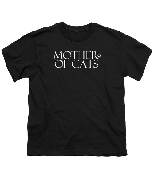 Mother Of Cats- By Linda Woods Youth T-Shirt by Linda Woods
