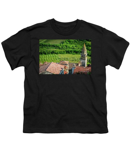 Motovun Istrian Hill Town - A View From The Ramparts, Istria, Croatia Youth T-Shirt