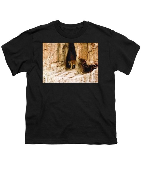 Mountain Lion In The Desert Youth T-Shirt