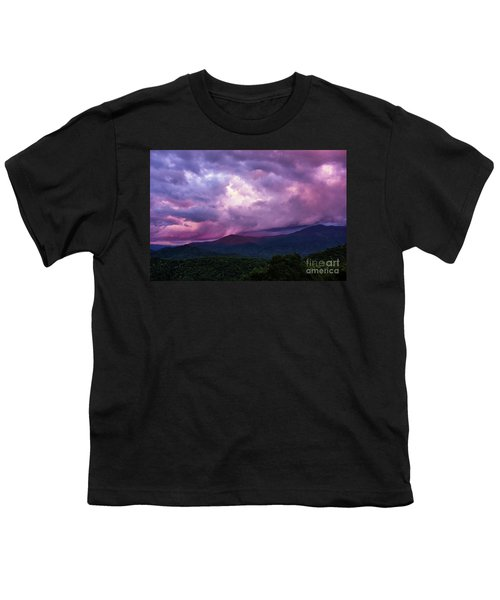 Mountain Sunset In The East Youth T-Shirt