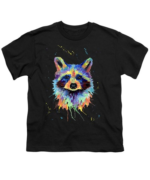 Multicolor Raccoon Youth T-Shirt