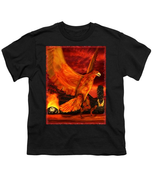 Myth Series 3 Phoenix Fire Youth T-Shirt by Sharon and Renee Lozen