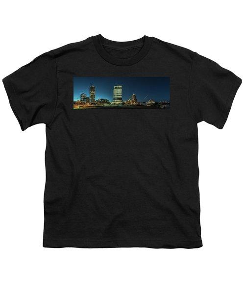 Youth T-Shirt featuring the photograph New Milwaukee Skyline by Randy Scherkenbach