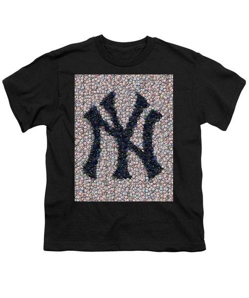 New York Yankees Bottle Cap Mosaic Youth T-Shirt