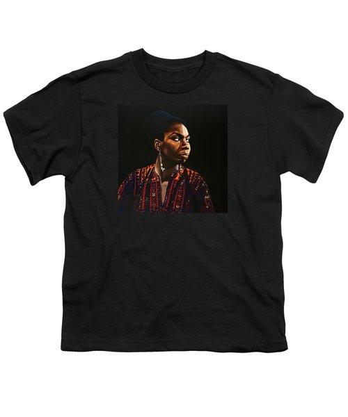 Nina Simone Painting Youth T-Shirt
