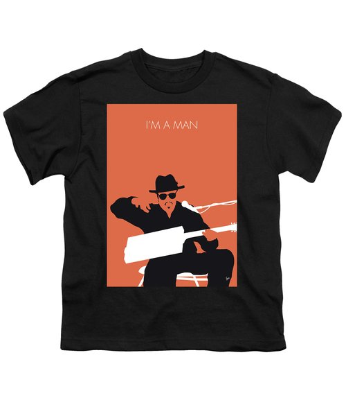 No103 My Bo Diddley Minimal Music Poster Youth T-Shirt
