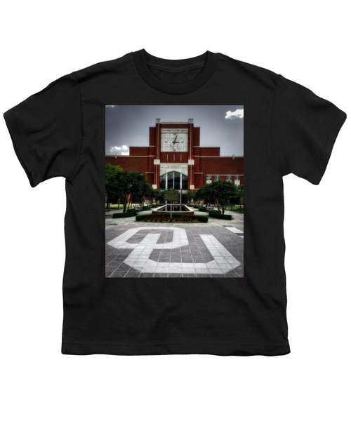 Oklahoma Memorial Stadium Youth T-Shirt by Center For Teaching Excellence