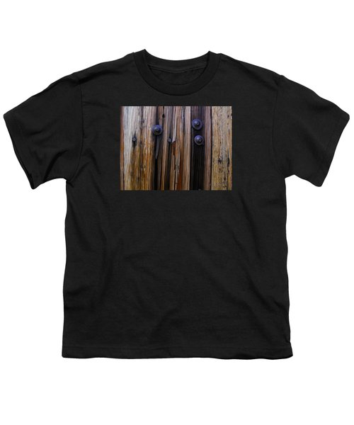 Old Door With Bolts And Nails Youth T-Shirt