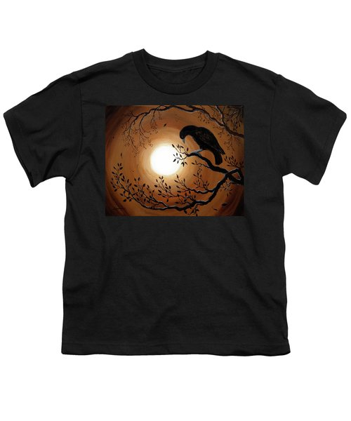 Ominous Bird Of Yore Youth T-Shirt by Laura Iverson