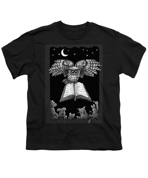 Owl And Friends Blackwhite Youth T-Shirt