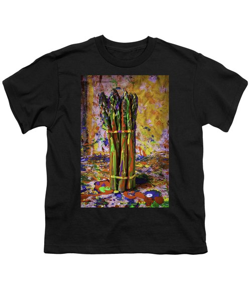 Painted Asparagus Youth T-Shirt by Garry Gay