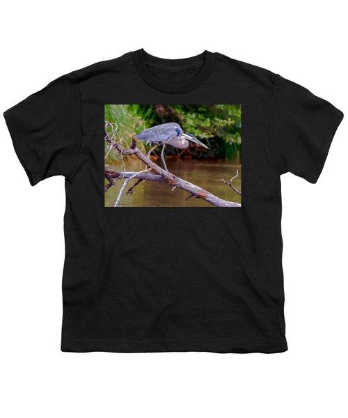 Painting Blue Heron Oak Creek Youth T-Shirt