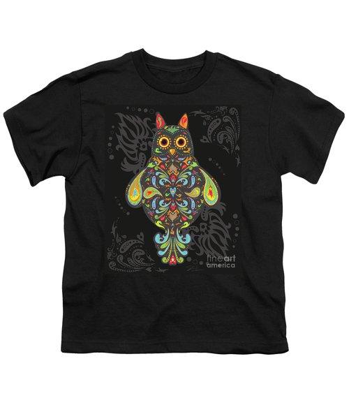Paisley Owl Youth T-Shirt