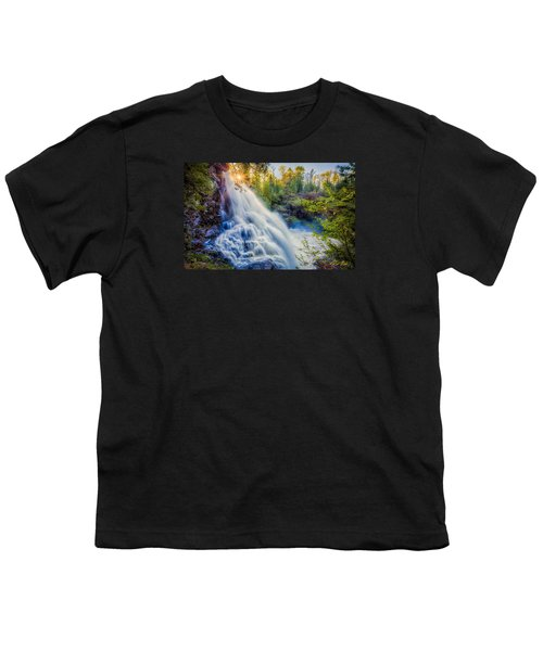 Youth T-Shirt featuring the photograph Partridge Falls In Late Afternoon by Rikk Flohr