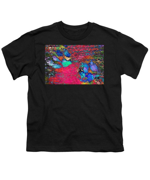 Paw Prints Colour Explosion Youth T-Shirt
