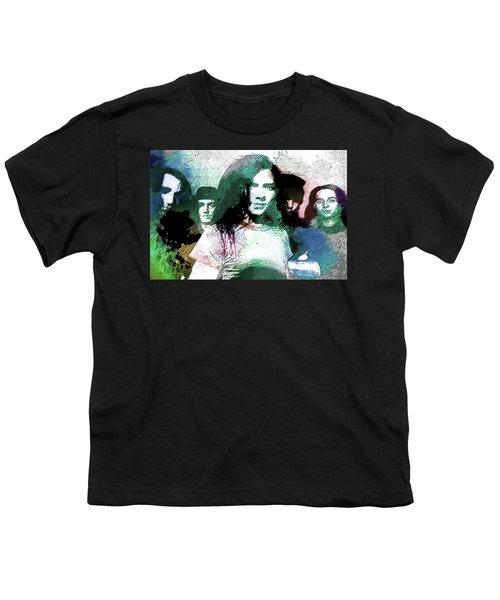 Pearl Jam Portrait  Youth T-Shirt by Enki Art