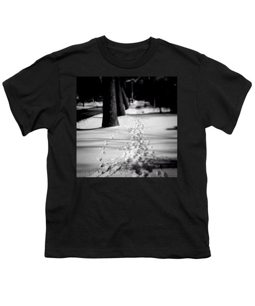 Pet Prints In The Snow Youth T-Shirt