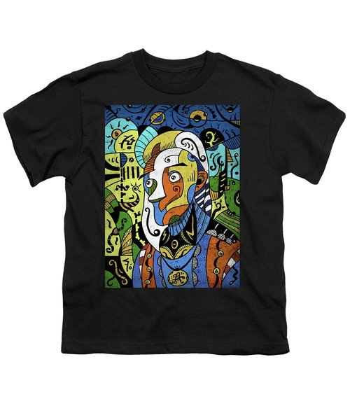 Youth T-Shirt featuring the digital art Philosopher by Sotuland Art