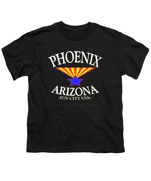 Phoenix Arizona Tshirt Design Youth T-Shirt by Art America Online Gallery