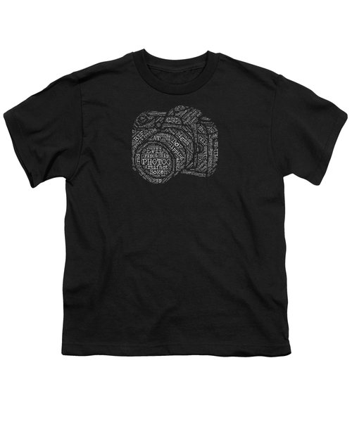 Photography Slang Word Cloud Youth T-Shirt by Felikss Veilands