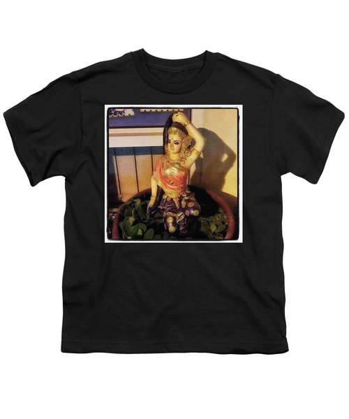Youth T-Shirt featuring the photograph Phra Mae Thorani. Holy Mother Of Earth by Mr Photojimsf