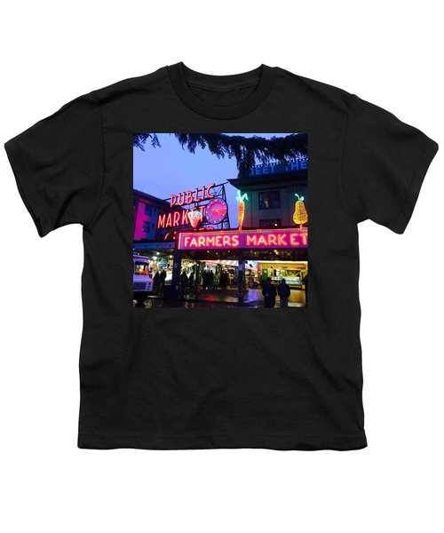 Pike Place Market Youth T-Shirt by Anthony Grayson