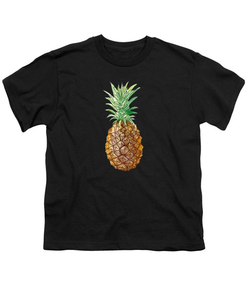Pineapple On Black Youth T-Shirt