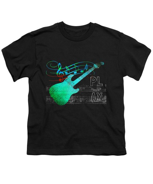 Youth T-Shirt featuring the digital art Play 4 by Guitar Wacky